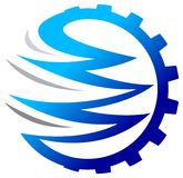 Gear logo. Isolated illustrated gear logo design Stock Images