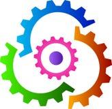 Gear logo. Illustration of gear logo design isolated on white background Royalty Free Stock Photo