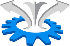 Gear logo Stock Image