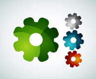 Gear logo design made of color pieces Royalty Free Stock Images