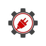 Gear Logo, Icon design element, company name Stock Photo