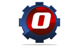 Gear Logo Letter O Royalty Free Stock Photography