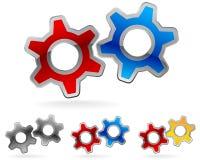 Gear logo set Stock Photos