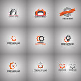Gear Logo Set Stock Photography