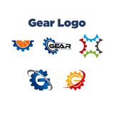 Gear Logo Template Royalty Free Stock Photography