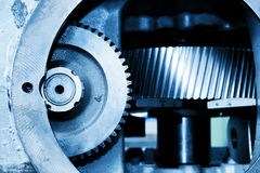Gear machine industrial elements close-up. Industry. Gear machine elements close-up. Industry, industrial concept Stock Photography