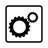 Gear machine isolated icon Stock Photos