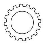 gear machine style  isolated icon design Royalty Free Stock Photography