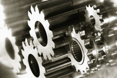 Gear-machinery with duplex-effect royalty free stock image