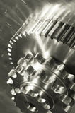 Gear machinery in duplex light-bronze Stock Photo