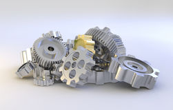 Gear machinery Royalty Free Stock Photos