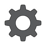 Gear machinery piece Royalty Free Stock Images
