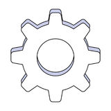 Gear machinery piece Royalty Free Stock Photos