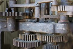 Gear Machinery. And rusty wheels Royalty Free Stock Photography