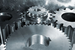 Gear machinery seen from above Royalty Free Stock Photos