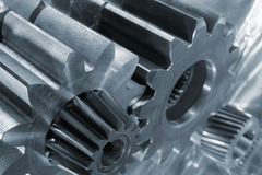 Gear machinery and steel Stock Photos