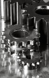 Gear machinery and titanium Stock Photography