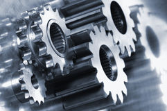 Gear-machinery and titanium concept Royalty Free Stock Photo