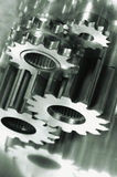 Gear-machinery and titanium concept stock images