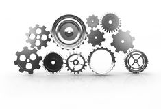 Gear machinery and titanium concept Royalty Free Stock Images