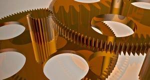 Gear made of copper Stock Photos