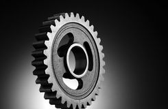 Gear. Manufacturing, Factory- A Steel Gear Royalty Free Stock Images