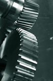 Gear mechanics in action Royalty Free Stock Images