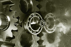 Gear-mechanics with duplex-effect Royalty Free Stock Image