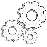 Gear, mechanics, or settings illustration Royalty Free Stock Photography