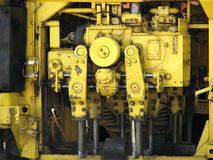 Gear. Mechanism. Big and strong engine, gear, mechanism royalty free stock photos
