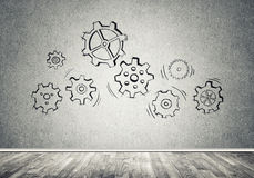 Gear mechanism as teamwork concept Royalty Free Stock Images