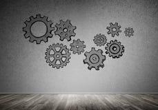 Gear mechanism as teamwork concept Stock Photography