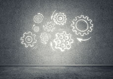 Gear mechanism as teamwork concept Royalty Free Stock Photo