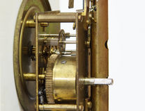 Gear mechanism of clock Stock Photo