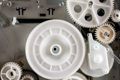 Gear mechanism. Close up of a gear mechanism Royalty Free Stock Photography