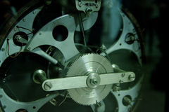 Gear mechanism closeup, cogs, racks Stock Photo