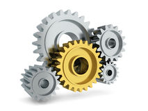 Gear mechanism Royalty Free Stock Images