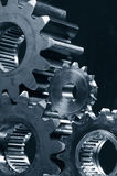 Gear-mechanism in duplex-blue toning Stock Image