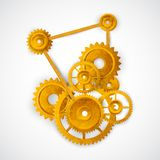 Gear Mechanism Royalty Free Stock Photography