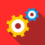 Gear mechanism icon, flat style Royalty Free Stock Photography
