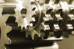 Gear mechanism and mirrors Stock Photography