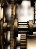 Gear in mechanism of the old clock. Stock Photo