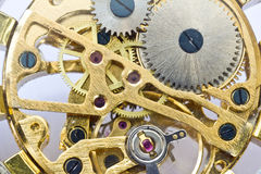 Gear mechanism of old watch  working Royalty Free Stock Photo