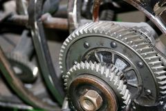 Gear mechanism for quality work.  Royalty Free Stock Photos
