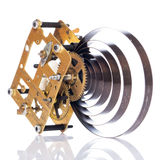Gear mechanism. On white background Royalty Free Stock Photos