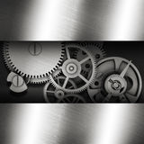 Gear in a metal frame Royalty Free Stock Images