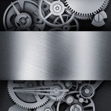 Gear in a metal frame Stock Photo