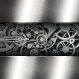 Gear in a metal frame Stock Images
