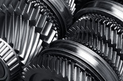 Gear metal wheels. Close-up Royalty Free Stock Photos