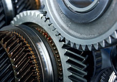 Gear metal wheels Royalty Free Stock Images